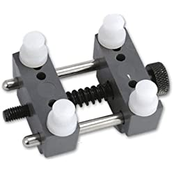 Watch case support - SODIAL(R)Clamp Tool Movement Adjustable Watch Holder Plastic repair Fixer Watchmaker grey