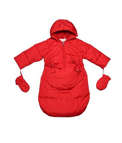 Gepard Druck Bodysuit (Oceankids Baby Mädchen Neugeboren Daunen Rot Schneeanzug Kinderwagen Abnehmbares Unterteil 6-9)
