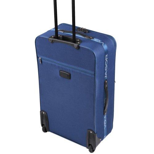 5 TLG. Trolleyset Kofferset Reisekoffer Handgepäck XXL, XL, L, M, S (Blau) - 5