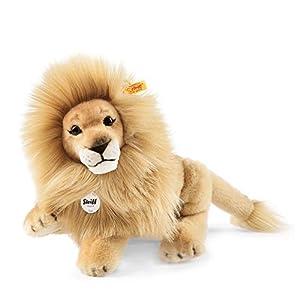 Steiff 065668 Leo - León de peluche articulado (34cm), marrón claro