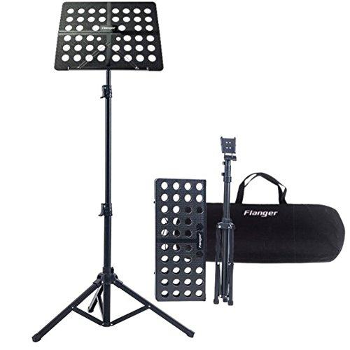 Leggio musica pieghevole con borsa capacità massima peso 5kg altezza regolabile gamma da 70 a 150cm adatto per contenere il tuo libro di musica, ipad, laptop(nero)