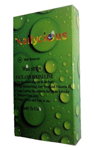 Mini kalt Wachsstreifen mit Ready Wax für Gesicht und Bikini mit Aloe Vera und Vitamin E 36 Stück pro Packung