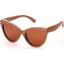 Gafas de sol retro Gafas de sol de madera hechas a mano de bambú gafas de sol polarizadas unisex para las mujeres y los hombres Gafas de sol de gran tamaño gafas de sol Protección UV gafas de sol de c