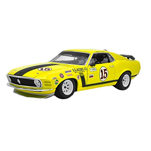 American Muscle Rad (GAOQUN-TOY Modellauto 1:18 Ford Mustang BOSS302 1969 American Muscle Car Legierung Automodelldekoration (Color : Yellow, Size : 26 * 10 * 7cm))