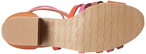 Nina Victor Cuir Sandales Gladiateur Pink Multi