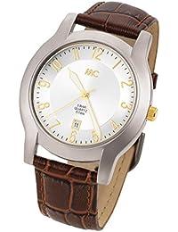 MC Timetrend Herren-Armbanduhr Titan Analog Quarz Leder 27704