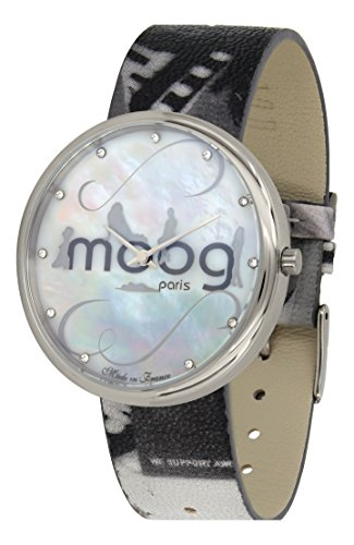 Moog Paris Ronde Vogue Women's Watch with White Mother of Pearl Dial, Eclectic Strap in Genuine Leather - M41671-A12
