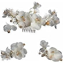 Amazon.es  tocado flores secas novia c883211bc7c6