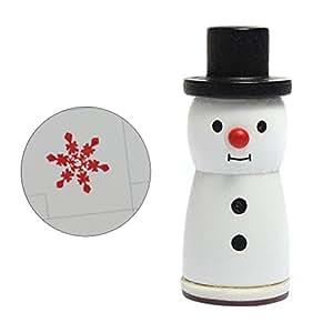 SUPVOX Simpatico Pupazzo di Neve francobolli Fiocchi di Neve francobolli in Gomma per la Decorazione a Tema Natalizio Vacanza Scrapbooking