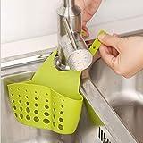 Outtybrave Creative Abflusshalter Schwamm Hängende Küche Spüle Regal Tasche 16 * 8 * 21.5cm grün