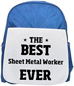 THE BEST Sheet Sheet Sheet Metal Worker EVER printed kid's Bleu  backpack, Cute backpacks, cute small backpacks, cute Noir  backpack, cool Noir  backpack, fashion backpacks, large fashion backpacks, Noir  fashion 9c0902