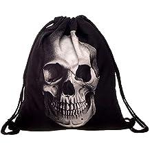 ALIKEEY Non - Woven Bags Drawstring Unisex Mochila Bolsa De Impresión Digital De Bolsillo 3D Bouquet