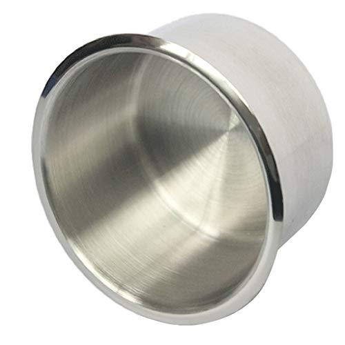 Almencla Multifunktion Edelstahl Getränkehalter Flaschenhalter Autoaschenbecher für KFZ Boot Auto usw - Silber, 9,5 x 5,5 cm