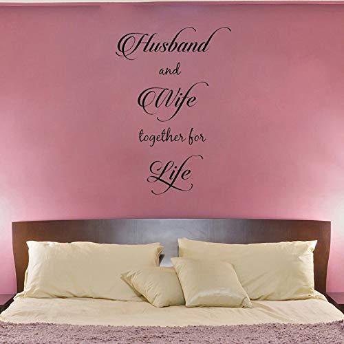 Marido mujer juntos vida Cita pared PVC Etiqueta pared