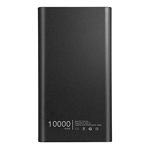Ouneed Powerbank Zusatzakku USB 10000mAh Externer Akku Ausgängen Powerbank für iPhone, iPad, Samsung Galaxy und Andere Smartphones (Schwarz) - Samsung Bluetooth Mobile Pda