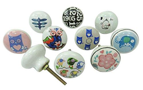 vintage-kinder-dresser-knob-keramik-knopfe-schrank-pulls-painted