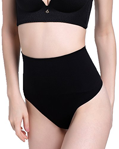 DODOING Frauen Slips Nahtlos Mieder Hohe Taille Body Shaper Shapewear Damen Bauch Weg String Tanga (Mieder String)