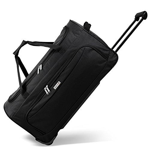 Geräumige noorsk® Reisetasche Sporttasche in verschiedenen Farben - XL - Schwarz (Trolley-reise-tasche)