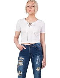 PILOT® lacer t-shirt de culture avant