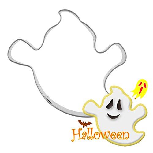 SEVENHOPE Edelstahl Halloween Ausstechform Geist Plätzchenform Ausstecher Keksform Keksausstecher für Plätzchen Kekse Fondant