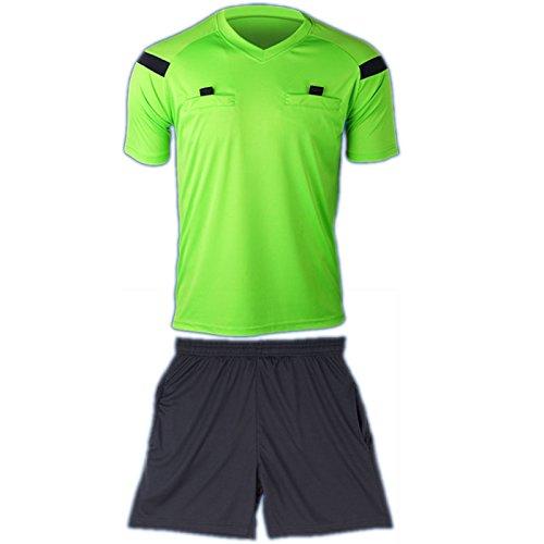 coolomg Herren Fußball Sport ClimaCool Short Sleeve Schiedsrichter Shirt Jersey Top Shorts New, Jungen damen Mädchen Kinder Herren, grün - Climacool Short Sleeve Shirt
