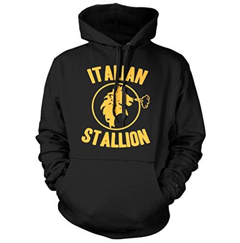 net-shirts Italian Stallion Hoodie, Größe XL, Schwarz