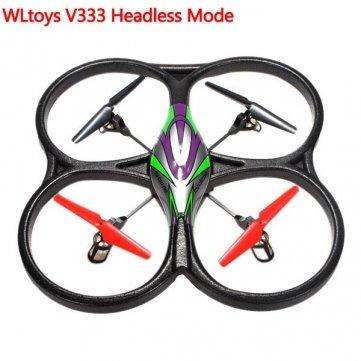 V262 de alta calidad mejorada WLtoys V333 Headless modo 2.4G 6 Axis RC Quadcopter RTF