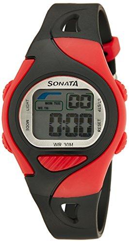 Sonata Super Fibre Digital Grey Dial Men's Watch - 87011PP02