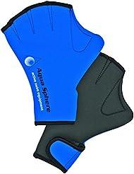 Aqua Sphere Fitness - Guantes de fitness y natación, tamaño Medio, color azul