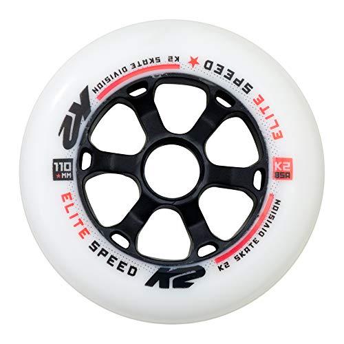 K2 Inline Skates Rollenset 110mm Elite Wheel  Ersatzrollen - Weiß - 4 Rollen - 30B3012.1.1.1SIZ
