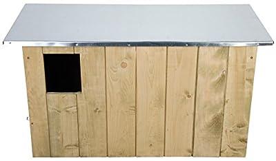 Esschert Design NK43 44 x 86 x 37cm Barn Owl Wood Box - Brown by Esschert