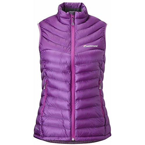 MONTANE WOMENS FEATHERLITE DOWN VEST DAHLIA (UK SIZE 14) Womens Down Vest