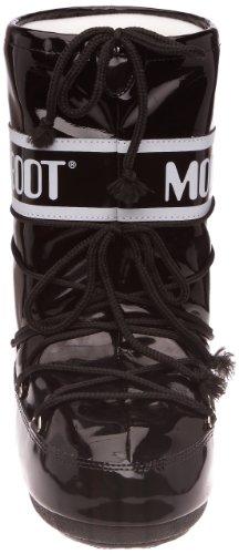 Moon Boot, Moon Boot Vinil, Stivali, Unisex- adulto Nero (Schwarz/nero/bianco)