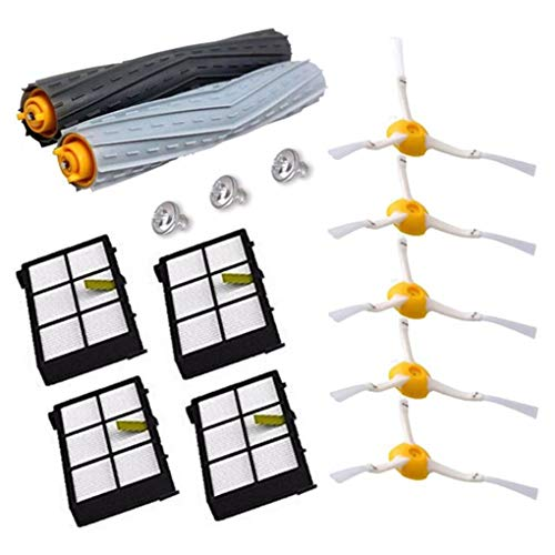 Kakiyi 14PCS / Set Tangle-Free Debris Extractor Ersatz-Kit für iRobot Roomba 800 Serie Vacuum Robots Teile - Tangle Free Kit