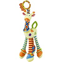 NUOLUX Silla de paseo asiento de coche juguete infantil Baby cama cuna cuna cochecito colgante jirafa juguete colgante con sonido de campana