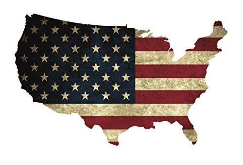 Wandtattoo USA Flagge Old, Modern 6 Größen Aufkleber Sticker Deko Amerika Folie (60 cm Länge 36 cm Höhe, Old)