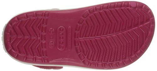crocs Unisex-Kinder Crocband Kids Clogs Rot (Raspberry/White)