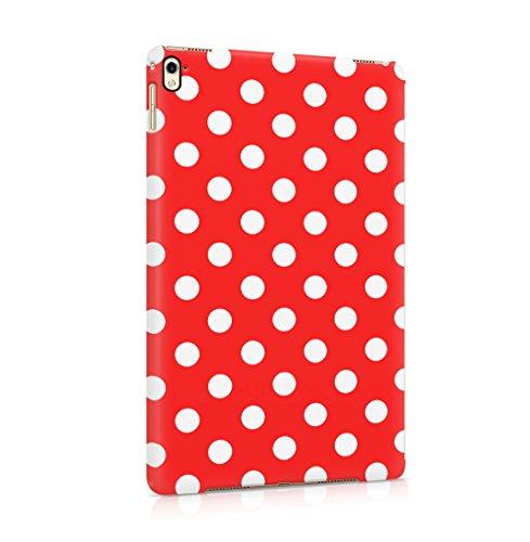 Crimson Red Polka Dots Pattern Dünne Rückschale aus Hartplastik für iPad Pro 9.7 Tablet Hülle Schutzhülle Slim Fit Case Cover Dots Cover Case Snap