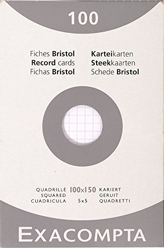 exacompta-13202e-cartoncini-bristol-10x15-cm-bianco
