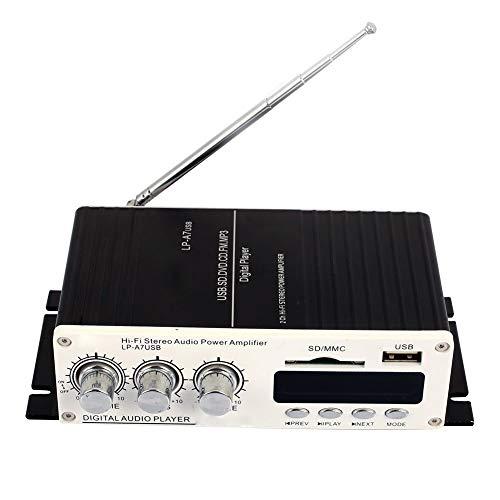 (Le Pai) Musik Stereo Bluetooth-Endstufe Drahtloser Bluetooth-Verstärker Universal-Infrarot mit Fernbedienung