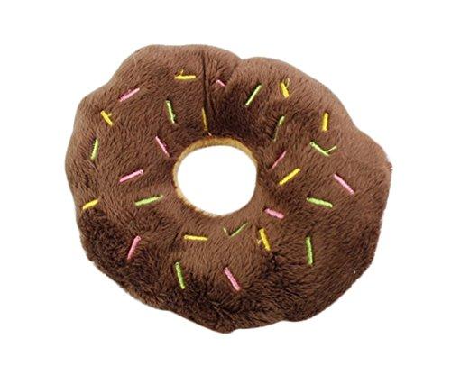 Milopon Quietschend Hundespielzeug Spielzeug Pet Puppy Plüsch Spielzeug Donuts coffee (Donut Spielzeug Für Hunde)