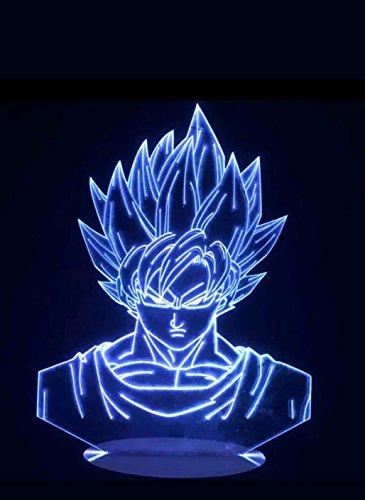 Dragonball Z Son Goku Super Saiyajin 3D Led Lampe Nachttischlampe Nachtlicht