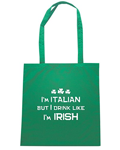 T-Shirtshock - Borsa Shopping TIR0121 italian drink irish dark tshirt Verde