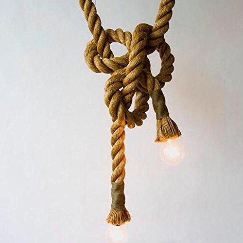 Seil-anhänger-beleuchtung (Hahaemall 250cm länge der anhänger lampe retro - vintage edison gelbe seil 1 kopf decke ampel ohne die glühbirne)