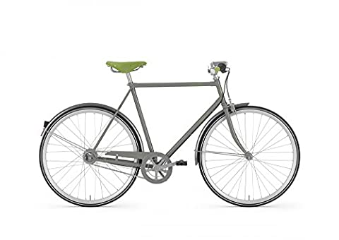Gazelle Van Stael Herren Fahrrad Just Grey 7 Gang 2017 Lifestyle Bike Urban 28', Rahmenhöhe:54 cm, Farbe:Grau