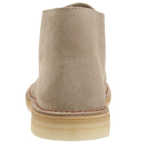 Clarks Originals Inicialização Deserto, Botas Mens Botas Eixo Curto E Ankle Boots, Cinza (lobo Camurça) Bege (areia)