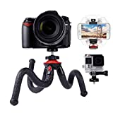Travel Camera Tripod Flexible Phone Tripod Lammcou Octopus Gorilla Pod Tripods with Smartphone Tripod Adapter Clamp for Canon Nikon Sony DSLR Gopro Action Cameras Stand Tripod Mount Holder