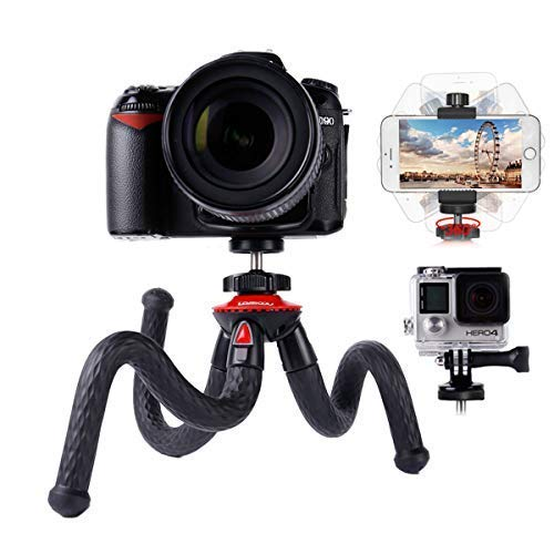 Trépied Smartphone Flexible Lammcou Trepied Appareil Photo Gopro Gorilla Octopus Pod Trepieds Reflex Portable pour Vlogging Caméra DSLR Nikon Canon Fujifilm Olympus et Phone Samsung Huawei Mini Tripod