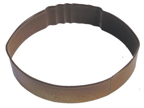 cm Cookie Cutter braun mit Bunte, langlebig, eingebrannte Polyresin Finish ()