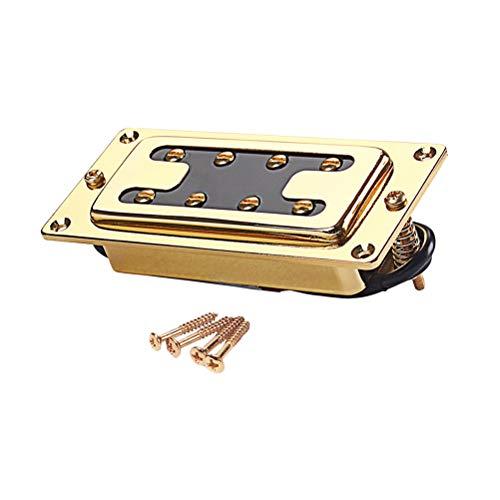 Healifty 15mm 4 String Bass Chrome humbucker doppelspule Pickups geräuschlos für lp Gitarre zubehör (golden)